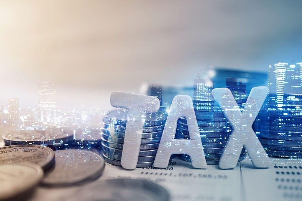 "Double exposure of city, ""tax"""